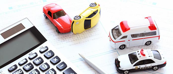 ミニチュアカーで再現された交通事故