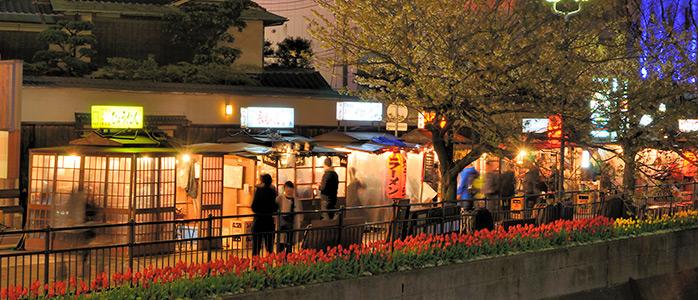 福岡市博多区の中洲のラーメン屋台